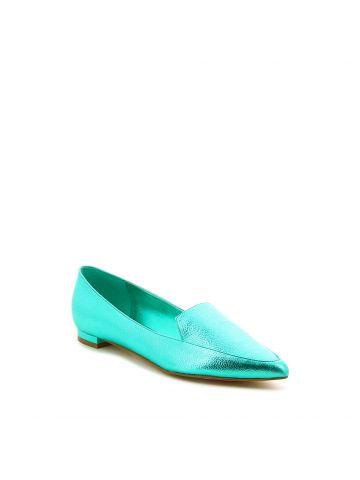 ABEY נעלי מוקסין טורקיז