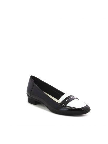 נעלי מוקסין שחור לבן לנשים