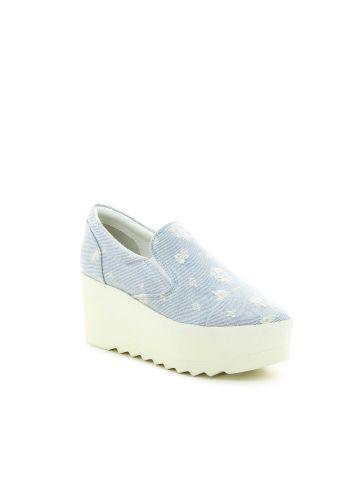 נעלי פלטפורמה סליפ און ג'ינס