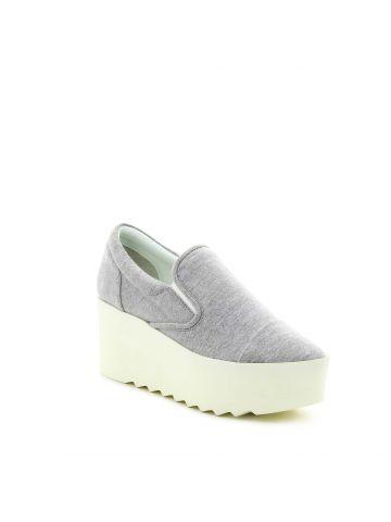 נעלי פלטפורמה סליפ און אפורות
