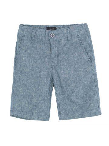 מכנסי ברמודה אריג
