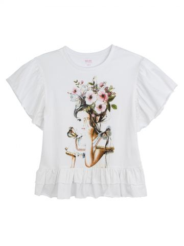 חולצת הדפס ילדה
