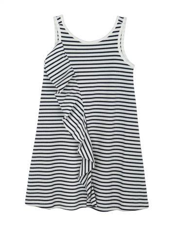 שמלת פסים ראפלס