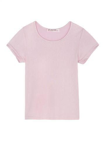 חולצת טי ורודה