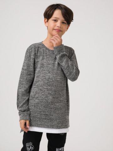 חולצת סריג מלנז'