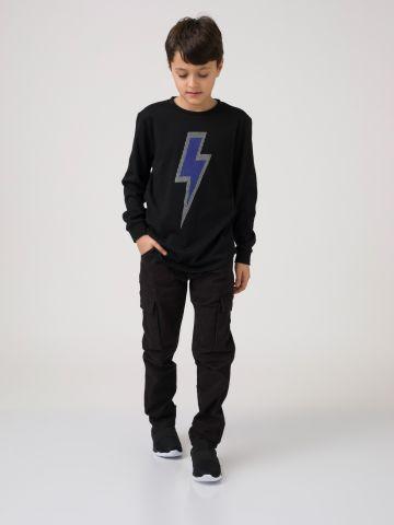 חולצת ברק שחורה