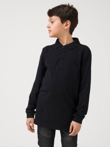 חולצת פולו שחורה