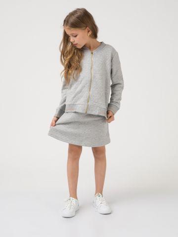 חצאית אופנתית פס מוזהב