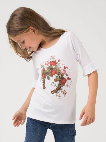 חולצה עם הדפס פרחוני