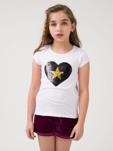 חולצת כוכב פאייטים מתחלפים