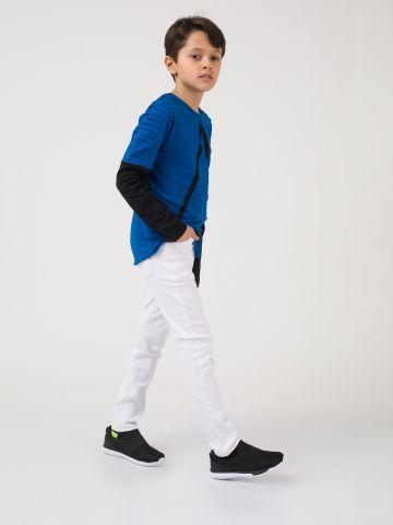 מכנסיים לבנים קלאסיים