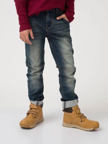 מכנס ג'ינס סטרצ'י כחול