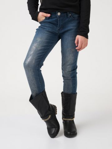 ג'ינס כחול מבריק