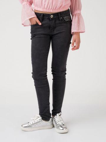 ג'ינס עם דיטייל יהלומים