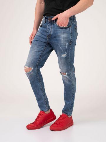 MARTIN ג'ינס קרעים כחול