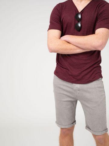 מכנסי ברמודה חמישה כיסים