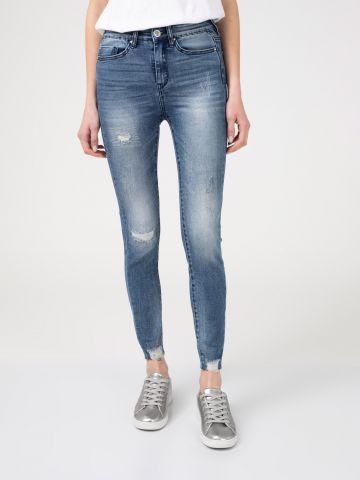 LOLA ג'ינס סקיני גבוה משופשף