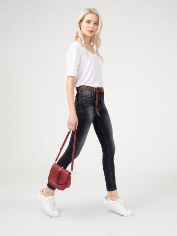 LOLA CANDIANI ג'ינס סקיני גבוה