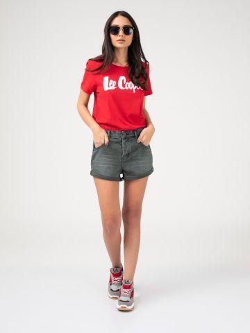 שורט ג'ינס קצר נמוך