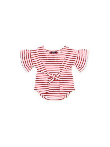 חולצת פסים שרוולי פעמון  מידות 1-3