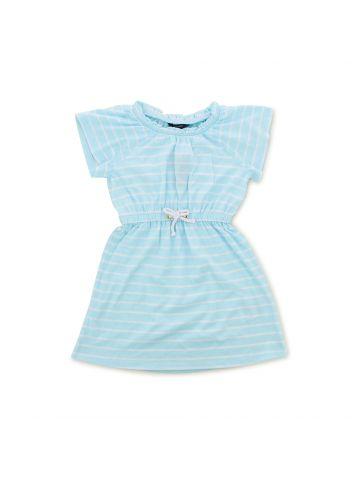 שמלת פסים עם גומי במותן מידות 4-8