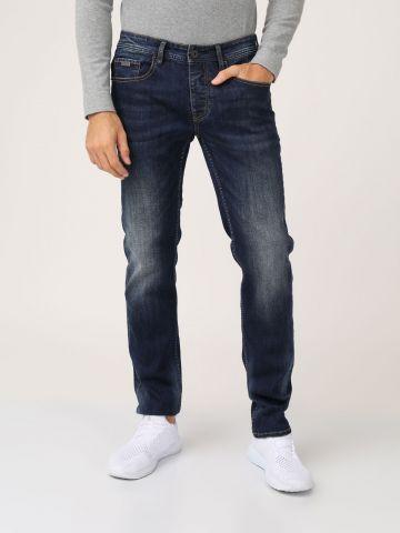 ג'ינס כחול גזרה רחבה
