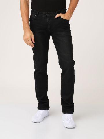 ג'ינס שחור רחב