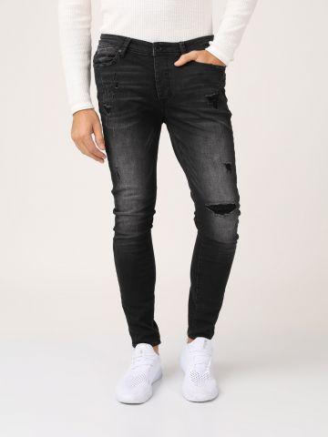 ג'ינס שחור רגל סקיני