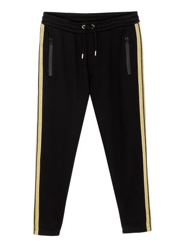 מכנסי טרנינג סטריפים מוזהבים