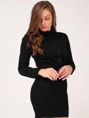 שמלת מיני ג'ינס צווארון