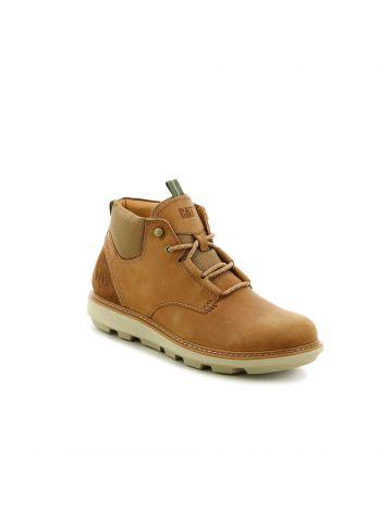 נעלי עור גבוהות סולייה משוננת