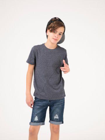 חולצת טי תפר אלכסוני