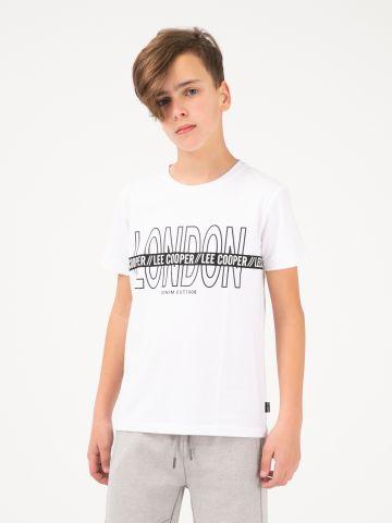 חולצה טי הדפס LONDON