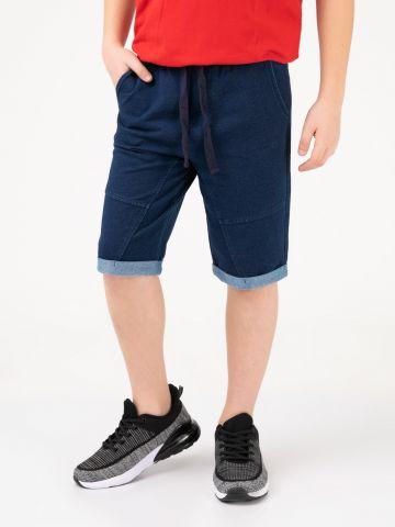 מכנסי שורט במראה ג'ינס