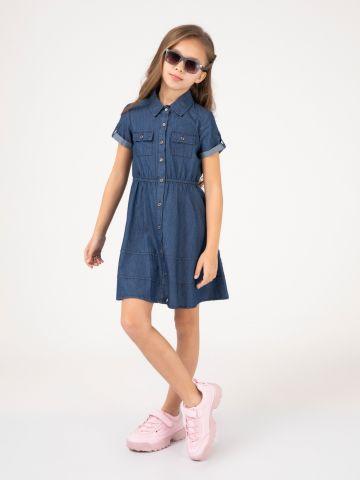 שמלת ג'ינס מכופתרת