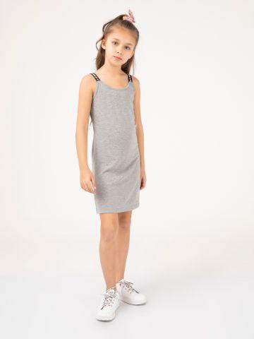 שמלת מיני כתפיות טקסט
