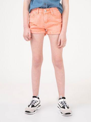 מכנסי ג'ינס קצרים נאון