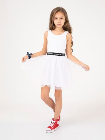 שמלת טול כתפיות