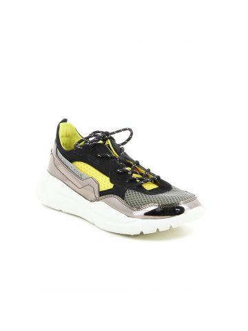 נעלי סניקרס מוגבהות מטאליות