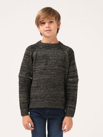 סוודר שרוולים מעוצבים