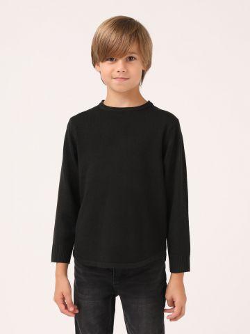 סוודר בייסיק לבנים