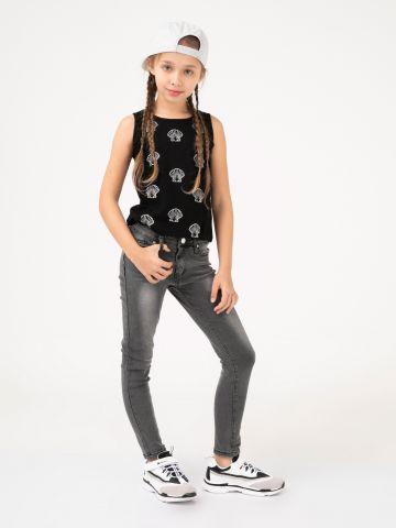ג'ינס אפור משופשף
